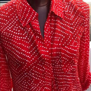 DIANEvonFURSTENBERG Red Blouse/shirt w polka dot